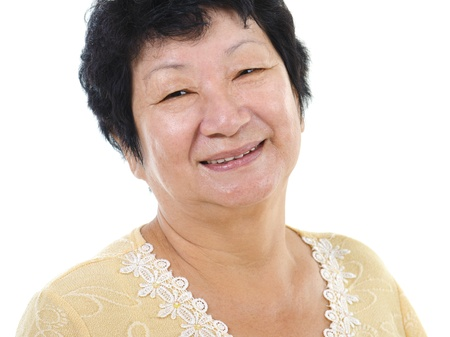 Asian senior woman photo