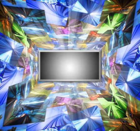 flat display panel: High Definition television concept photo