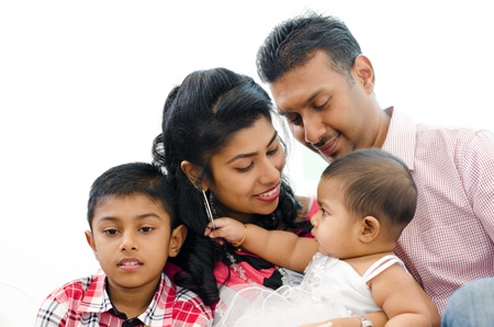 Loving Indian family at home Stock Photo - 15074884