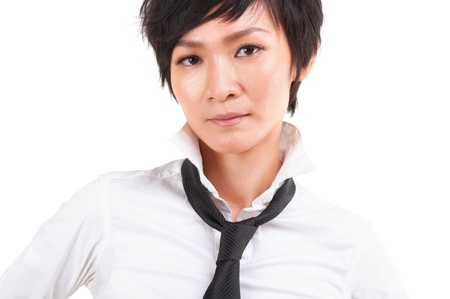 tomboy: Close up Asian Japanese Rock Girl Portrait