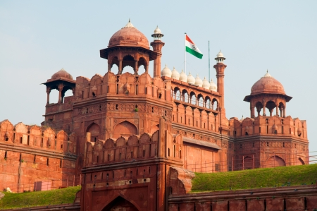 monument in india: Lal Qila - Red Fort in Delhi, India Stock Photo
