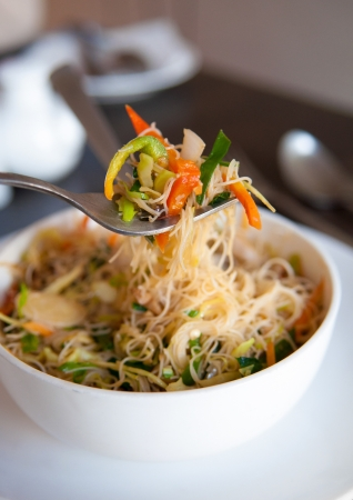 Close up Singapore fried rice noodles Stock Photo - 17185013