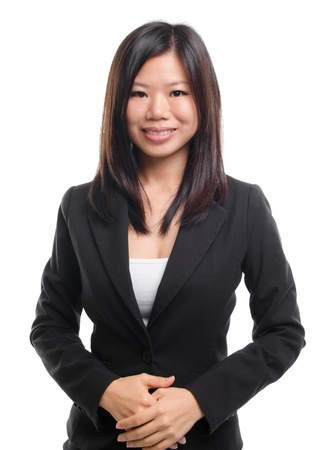Portrait of Southeast Asian business / educational woman over white background Stock Photo - 17160900