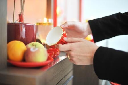 przodek: Tradycyjny chiński ceremonii herbaty ślub służącym do przodka.