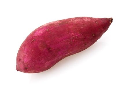 Sweet potato isolated on white. photo