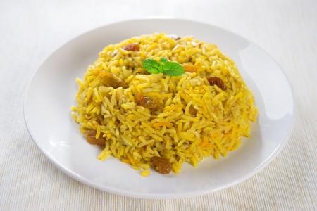 comida arabe: Arabian arroz kabsa, comida Ramadán en Oriente Medio.