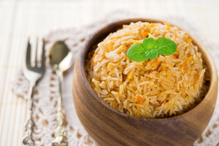 biryani: Indian food biryani rice or briyani rice, fresh cooked, indian dish.