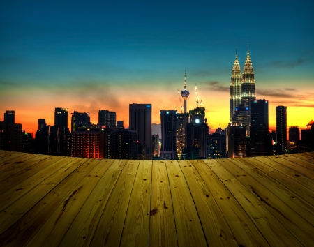 View from balcony. Kuala Lumpur is the capital city of Malaysia. photo