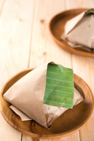 lemak: Traditional Malay food Nasi Lemak Stock Photo