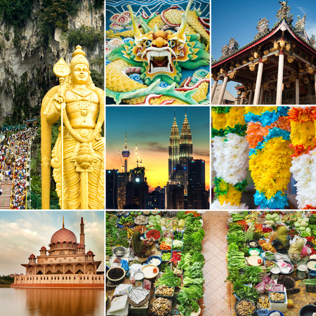 belongs: Collage of Malaysia attractions and landmark. All picture belongs to me. Stock Photo