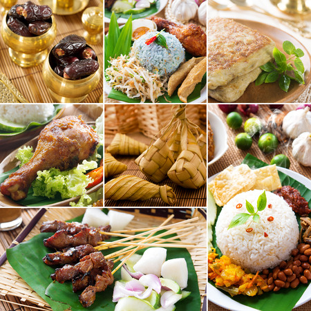 hari raya aidilfitri: Collage photo delicious ramadan food, all photos belongs to me. Stock Photo