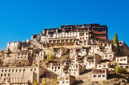 gompa: Thiksey Gompa, Tibetan Buddhist monastery of the Yellow Hat, Leh, Ladakh, India.
