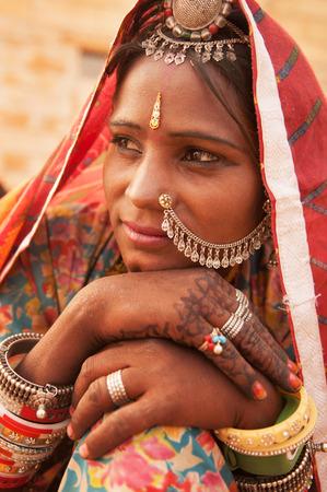 rajasthani: Portrait of an Indian Rajasthani woman, India