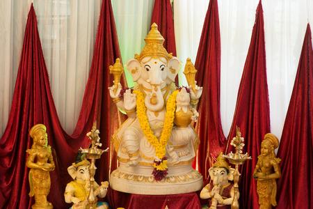 ganapati: Ganesh idol. Ganesh is the Hindu elephant-headed God.