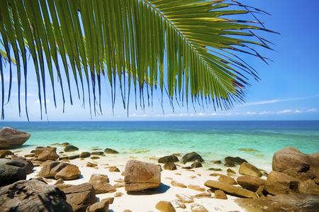 Summer beach view at Lang tengah island, Terengganu, Malaysia Stock Photo