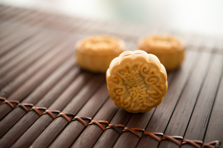 Moon cakes is traditionally baked pastry to eaten during Mid-Autumn Festival. The Chinese character on the mooncake represent