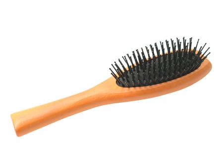 Hair brush isolated on white background. Stockfoto