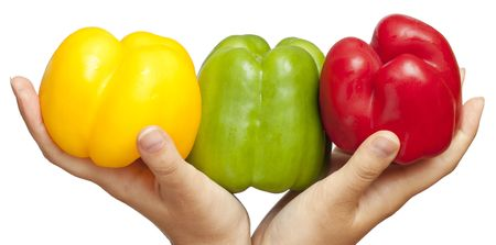 Peppers on hands Stock Photo - 7729971