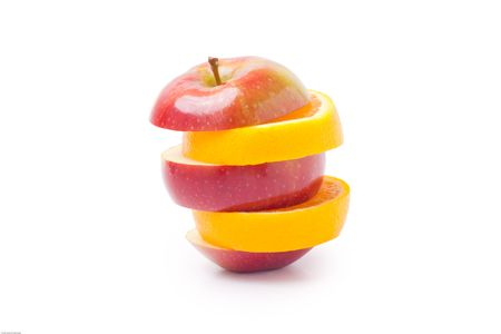 Apple mixed with orange Stock Photo - 7864511