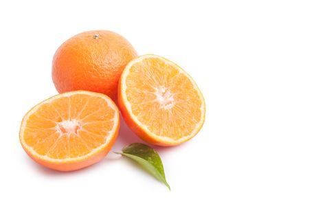 Tangerines isolated on white background Stock Photo - 8346253
