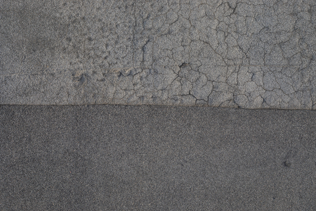 Monochromatic Texture of Old Tar or Asphalt Roofing 写真素材 - 118054987