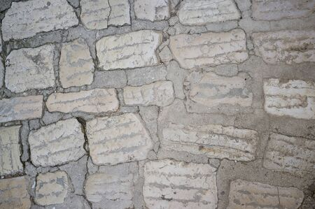 Old and Worn Out Stone Pavement in City of Vrsar, Istria