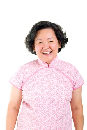 Cheerful asian senior woman  photo