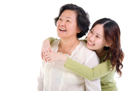 Asian mother and daughter  photo