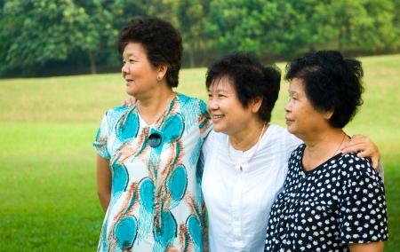 friendships of asian senior women Stock Photo - 19912851