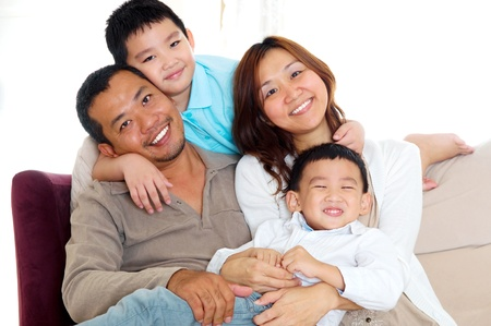 portrait of asian family photo