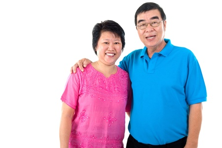 healthy asian family: Portrait of asian senior couple