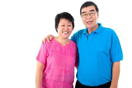 healthy asian family: Portrait of asian senior couple