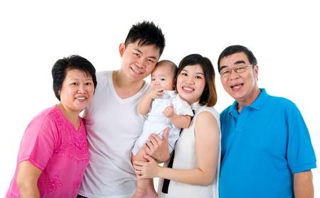 three generations: Portrait of three generations asian family Stock Photo