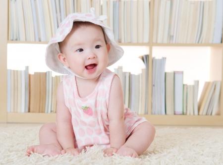 Portrait of lovely baby girl photo