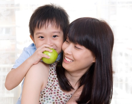 heathcare: Asian mother and son Stock Photo