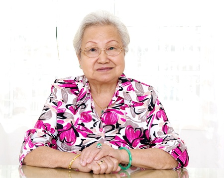 portrait of asian senior woman photo