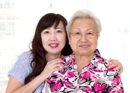 Asian senior woman and daughter Stock Photo - 20206448