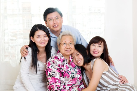 asian youth: beautiful 3 generations family