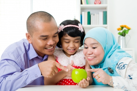 indonesian food: healthy lifestyle of muslim family Stock Photo