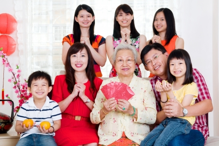 chinese family: Happy chinese new year