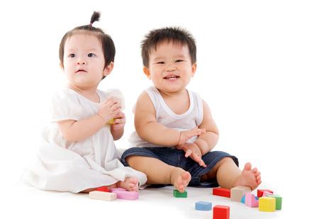 pan asian: Cute asian babies