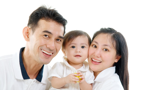 pan asian: Portrait of lovely mixed race family