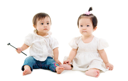 baby sit: Asian lovely babies