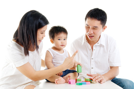 adult toys: Parents playing with son