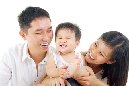 Portrait of asian family Stock Photo - 22569497