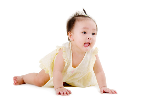 crawling baby photo
