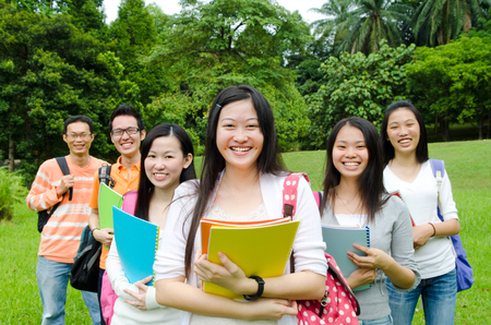 Asian students  photo
