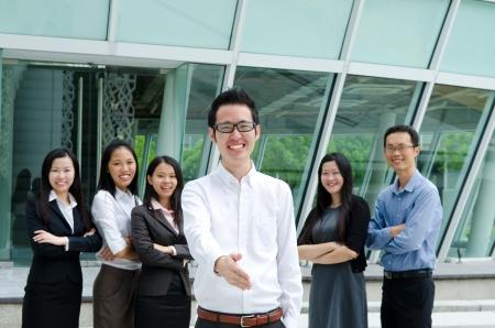 asian business team: Asian business team