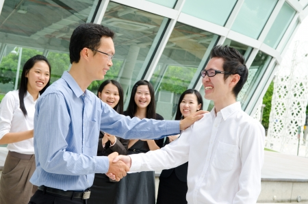 Asian business team