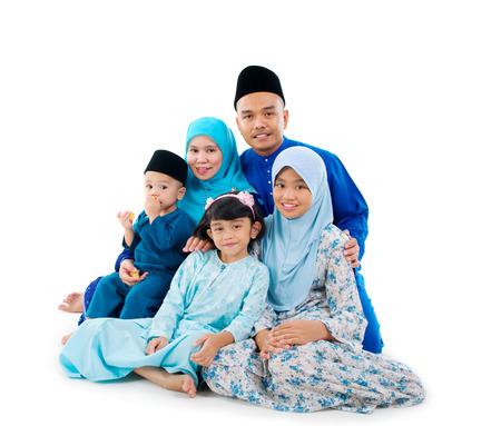 portrait de famille musulman Banque d'images